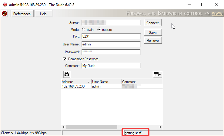 Dude issue with database